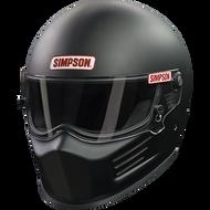 SIMPSON BANDIT HELMET SNELL SA2015 MATT BLACK M MEDIUM 58cm 7 1/4 MSA FIA M6 HANS