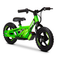 "Amped A10 Revvi Kids / Childrens Electric Bikes  10"" funbike lithium trial mountain off road 2-6 years Old Green"