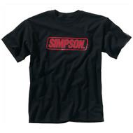 Simpson RED Logo Tee T Shirt Black
