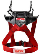 Simpson Hybrid Sport Harness Adult Fia M6 Sfi Car Karting Racing RED head restraint