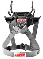 Simpson Hybrid Sport Harness Adult Fia M6 Sfi Car Karting Racing Silver head restraint