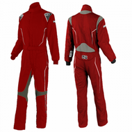 Simpson Adult Helix Racing Suit Sfi 5 Red