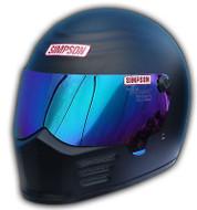Simpson Outlaw Helmet Snell M2015 Matt Black M Medium 58Cm 7 1/4