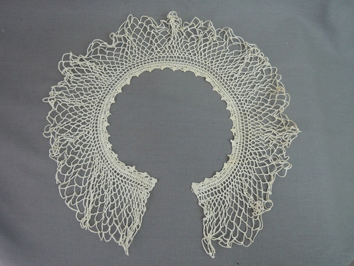 Antique Crochet Wide Collar for Blouse or Dress, 22 inches, Edwardian