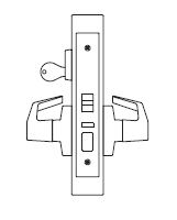PDQ MR116 Entrance Office Mortise Locks