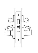 PDQ MR128 Grade 1 Single cylinder Institution Deadbolt Mortise Locks