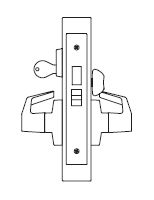 PDQ MR135 Grade 1 Single Cylinder Dormitory Mortise Locks