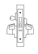 PDQ MR136 Grade 1 Single Cylinder Corridor Mortise Locks