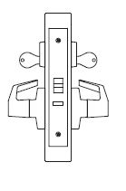 PDQ MR200 Grade 1 single cylinder electrified institutional mortise locks JS