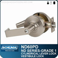 Schlage ND60PD - Heavy Duty Vestibule Lever Lock, Double Cylinder