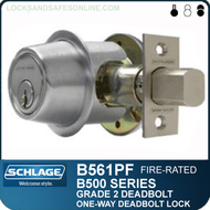 Schlage B561PF - One-way cylinder x blank plate, Fire-rated