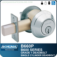 Schlage B660P - Grade 1 Deadbolt - Cylinder x thumbturn
