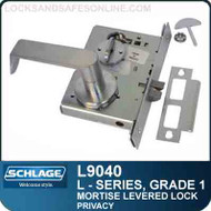 Schlage L9040 - GRADE 1 MORTISE LEVERED LOCK - Privacy - Standard Lever Collections