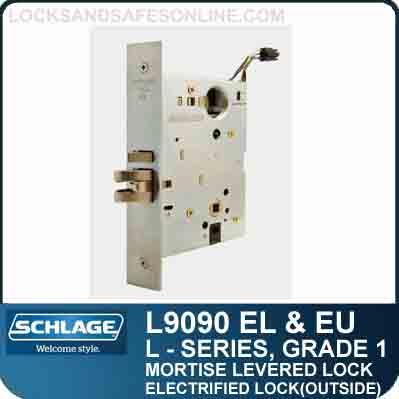 Electrified Lock Outside Schlage L9090 El Amp Eu S