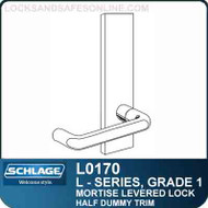Schlage L0170 - GRADE 1 MORTISE LEVERED LOCK - Single Dummy - Standard Lever Collections