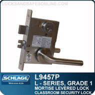 Schlage L9457P/LV9457P - GRADE 1 MORTISE LEVERED LOCK - Classroom Security with Deadbolt - Standard Lever Collections