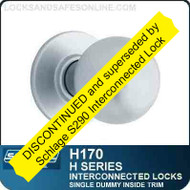 Schlage H170 - CYLINDRICAL INTERCONNECTED LOCK - Single Dummy