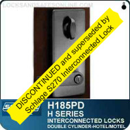 Schlage H185PD - CYLINDRICAL INTERCONNECTED LOCK - Double Cylinder - Hotel/Motel Lock