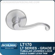 Schlage LT170 - Grade 2 Tubular Levered Lock - Single Dummy Lever