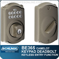 Schlage BE365-CAM - Camelot Design Electronic Keypad Single Cylinder Deadbolt