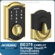Schlage BE375-CAM - Camelot Design Schlage Touch Deadbolt