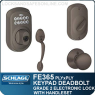 Schlage FE365-PLY-PLY - Plymouth Style Keypad Deadbolt and Handleset with Plymouth Knob