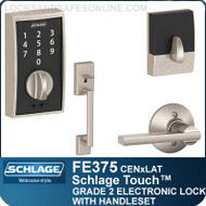 Schlage FE375-CEN-LAT - Century Style Touch Entry Handleset with Latitude Lever