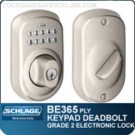 Schlage BE365-PLY - Plymouth Style Electronic Keypad Single Cylinder Deadbolt