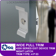 PDQ PLATE/PULL TRIM - Night Latch - (For PDQ 4200 Series Exit Devices)