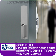 PDQ GRIP PULL TRIM - Dummy Trim (Grip Pull Only) - (For PDQ 4200 Series Exit Devices)