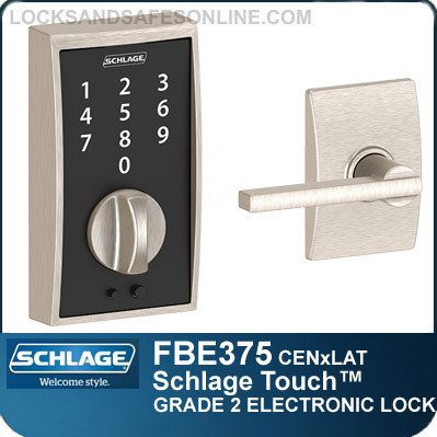 Schlage FBE375-CEN-LAT - Century Style Schlage Touch™ and Latitude Lever