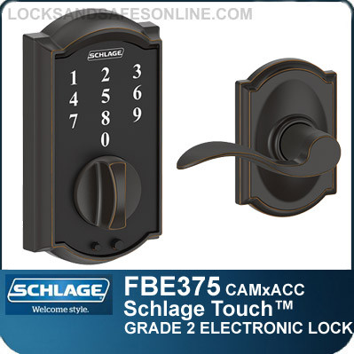 Schlage FBE375-CAM-ACC - Camelot Style Schlage Touch™ and Accent Lever