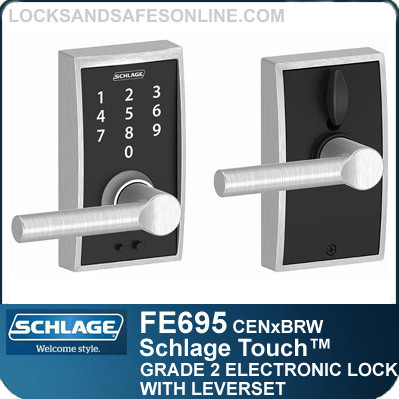 Schlage FE695-CEN-BRW - Century Style Schlage Touch™ Entry Leverset with Broadway Lever