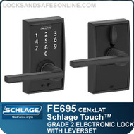 Schlage FE695-CEN-LAT - Century Style Schlage Touch™ Entry Leverset with Latitude Lever