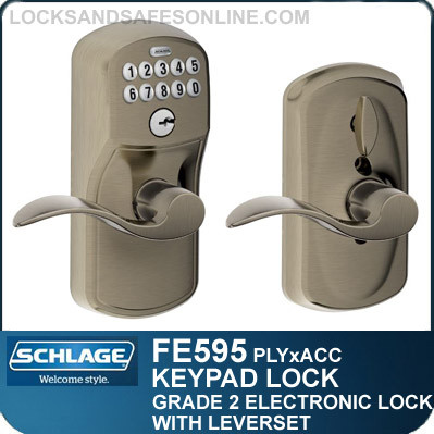 Schlage FE595-PLY-ACC - Plymouth Style Keypad Accent Lever with Flex Lock Feature