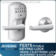 Schlage FE575-PLY-ELA - Plymouth Style Keypad Elan Lever with Auto Lock