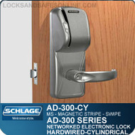 Schlage AD-300-CY-MS (Magnetic Stripe - Swipe) Electronic Locks