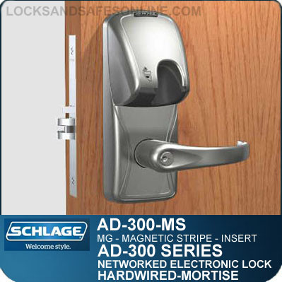 Schlage AD-300-MS-MG (Magnetic Stripe - Insert) Electronic Mortise Locks