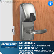 Schlage AD-400-CY - Networked Wireless Cylindrical Locks - Magnetic Stripe (Insert)