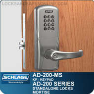 Schlage AD-200-MS - Standalone Mortise Locks - Keypad