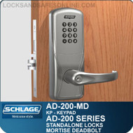 Schlage AD-200-MD - Standalone Mortise Deadbolt Locks - Keypad