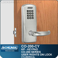 Standalone Electronic Keypad Locks | Schlage CO-200-Cylindrical