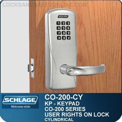 Standalone Electronic Keypad Locks | Schlage CO-200-Cylindrical