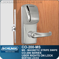 Standalone Magnetic Stripe Swipe Locks | Schlage CO-200-Mortise