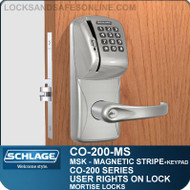 Standalone Magnetic Stripe Swipe Locks with Keypad | Schlage CO-200-Mortise