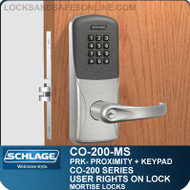 Standalone Proximity Locks with Keypad | Schlage CO-200-Mortise