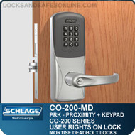 Standalone Proximity Locks with Keypad | Schlage CO-200-Mortise Deadbolt
