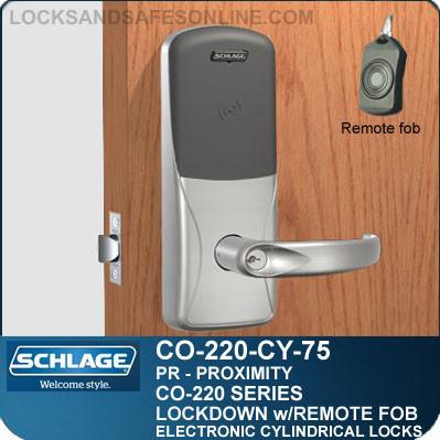 Cylindrical Proximity Locks | Schlage CO-220-CY-75-PR | Classroom Lockdown Solution