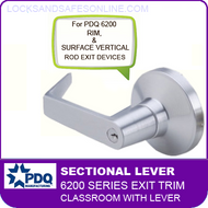 PDQ 6200 Sectional Trim - Classroom with Lever - For Rim and Surface Vertical Rod Exit Devices