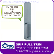 PDQ 6200 Grip Pull Dummy Trim - For Rim and Surface Vertical Rod Exit Devices